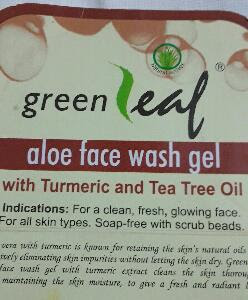 Review of Brihans green leaf aloe face wash gel with turmeric and tea tree oil 4