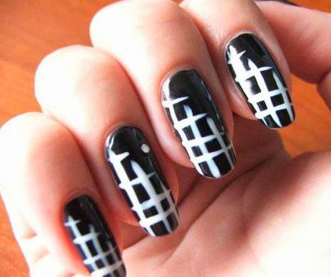 Black and White Nail Art  35 Beautiful Black & White Nail Art Designs and Ideas 2017 Black 2520and 2520White 2520Nail 2520Art 25202