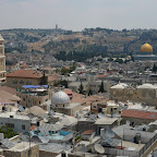Looking south over the old city, Jerusalem.
