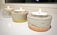 DIY Cement Tealight Candle Holders