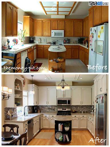 kitchen fluorescent light garden windows removing a box the kim six fix upgrading fixture in