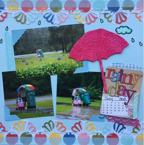 Nellie39s Cottage Rainy Day scrapbooking