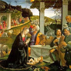 Ghirlandaio Domenico, Adorazione dei Magi, 1488, Spedale degli Innocenti, Firenze. (fonte web)