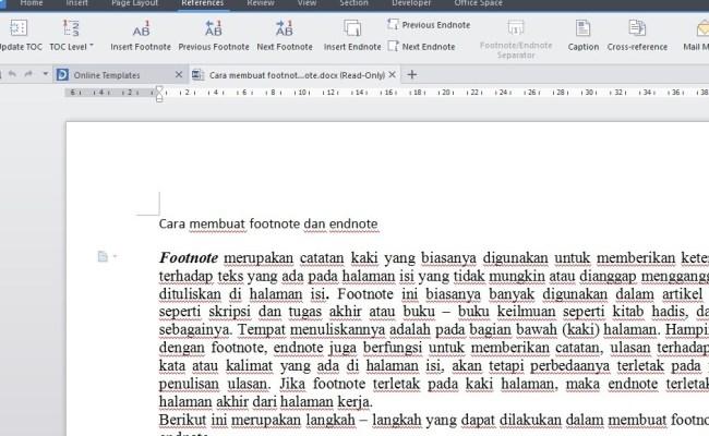 Contoh Makalah Yang Menggunakan Catatan Kaki Aneka Macam Contoh Cute766