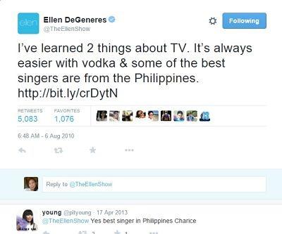 EllenDeGeneres&Filipinosingers