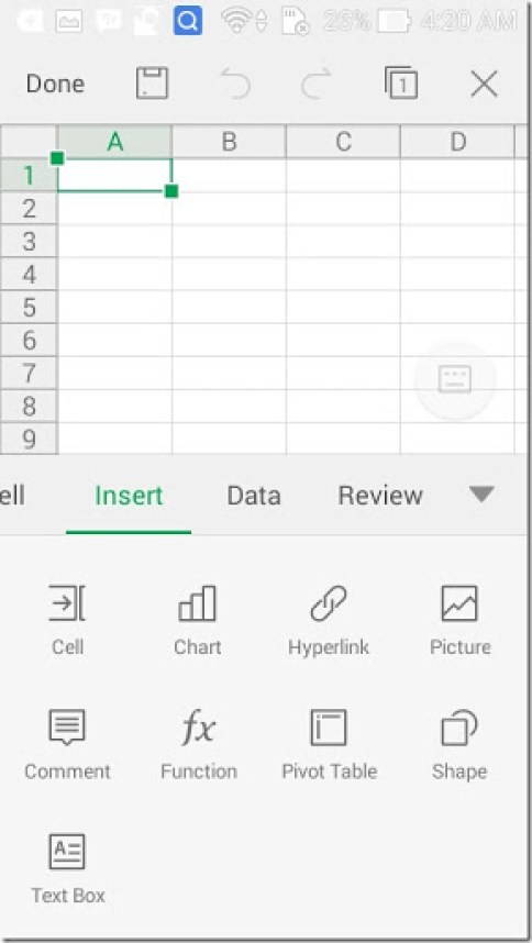 aplikasi microsoft office excel di hp android