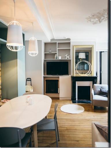 piccoli spazi Interni parigini retr chic in 52 mq  Case e Interni