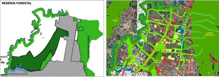 Mapas comparativos