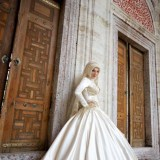 beautiful hijab style fashion for brides 2016