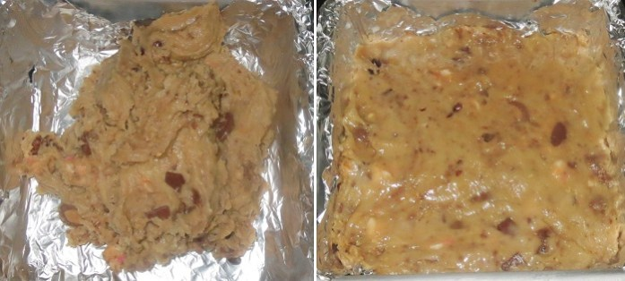 Easy Eggless Butterscotch Cookie Bars Recipe Tutorial with step by step pictures | Eggless baking recipes - Foodomania.com