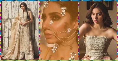 Actress Mahira Khan Shinning in Recent Photo Shoot for Umnar Sayeed Couture