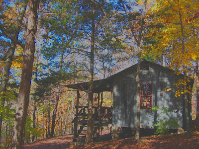 Line Camp Cabin in Fall