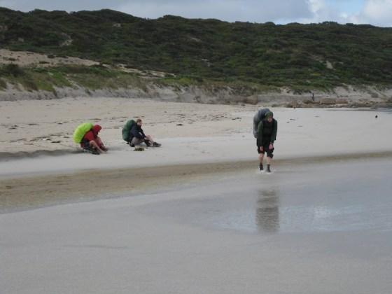 Boots off - Calgardup Brook - Cape to Cape Track