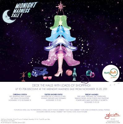 Christmas sale at ayala malls