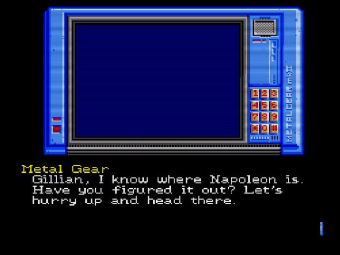 Metal Gear sabe onde Napoleon está