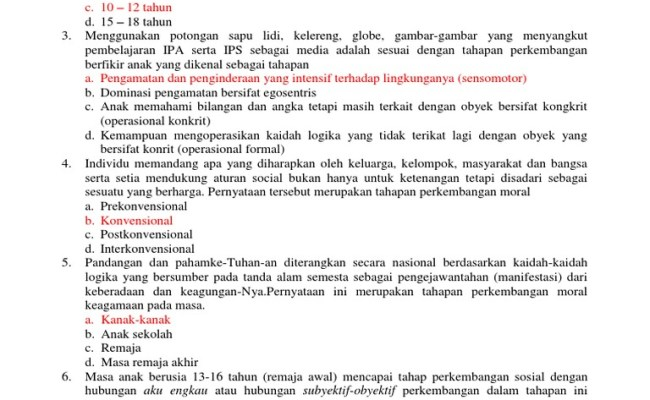 Contoh Soal Ukg Sd Dan Kunci Jawaban Cute766