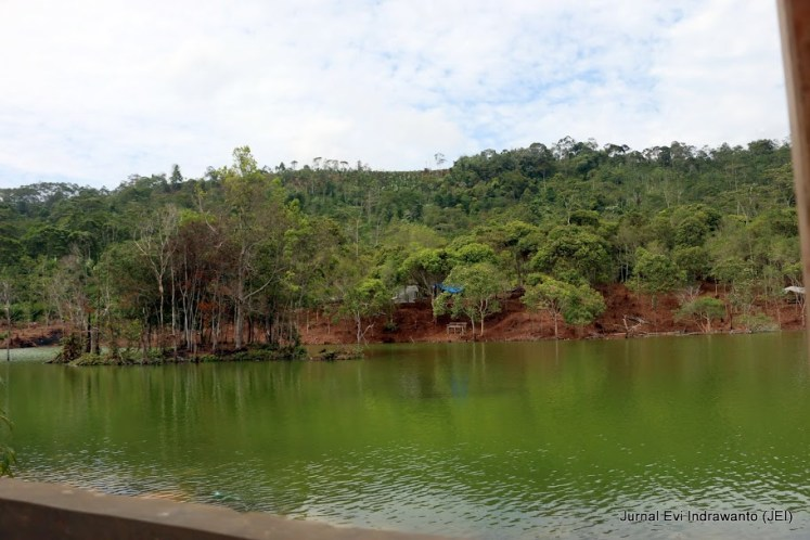 View ke seberang Danau Hijau