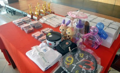 Trophies, Medals and Raffle Draw prizes