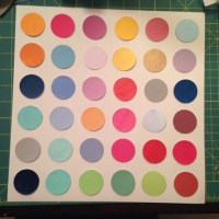 After the pic above, I used double sided glue dots to ...