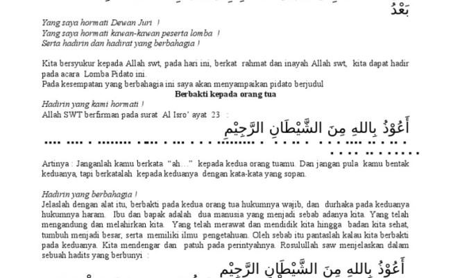 Contoh Pidato Berbakti Kepada Orang Tua Dan Guru Singkat Cute766