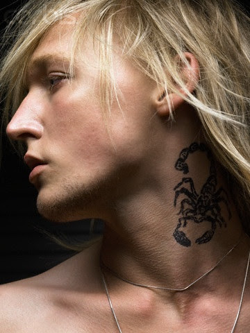 men neck tattoos