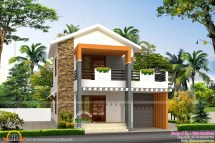 Small Double Storied House In 1200 Sq-feet - Kerala Home