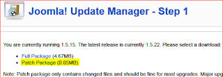 4.joomla update manager step1