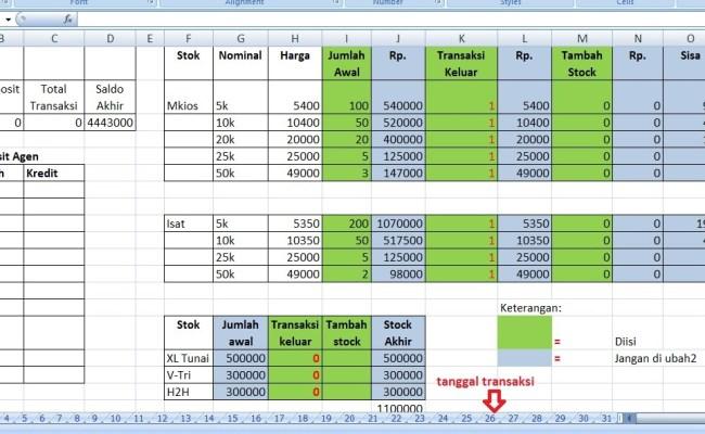 Contoh Laporan Keuangan Konter Pulsa