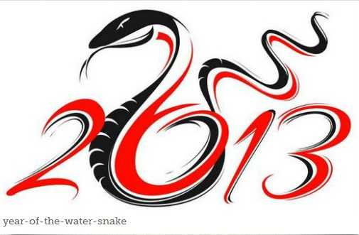 Lucky Chinese Zodiac animal signs for 2013 year of the Water Snake