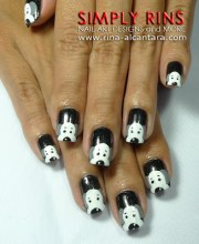 nail art love dogs simply