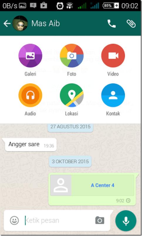 tutorial mengirim contact via whatsapp