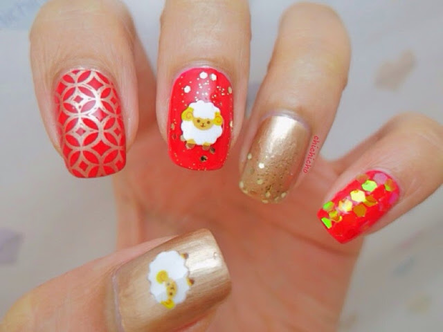 Unique Chinese New Year 2016 Nail Art Design Free Es Poems