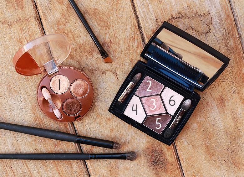 Palettes de fards à paupière pour un makeup automnal.