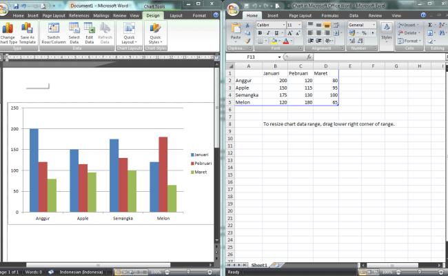 Fungsi Dan Cara Membuat Grafik Chart Menggunakan Microsoft Word Cute766