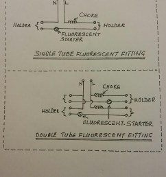 this is the single line diagram for c set with choke and fluorescent starter for fluorescent fitting  [ 1200 x 1600 Pixel ]