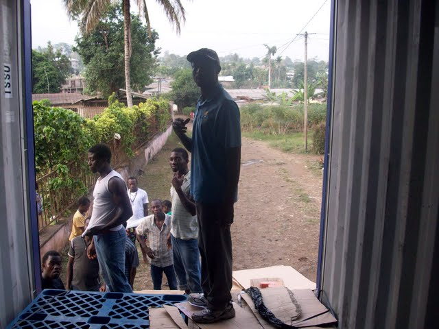 Container Arrival & Offloading in Buea - 100_9101.JPG