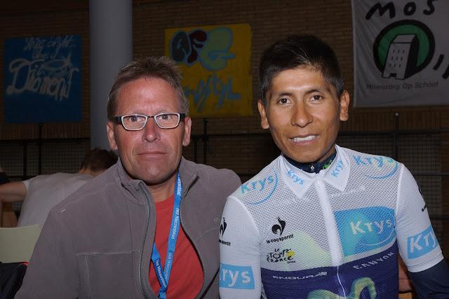 Francky Dryepondt en Nairo Quintana