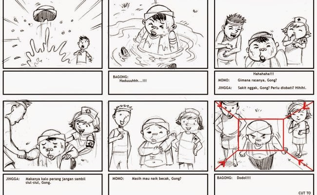 Contoh Storyboard Iklan Makanan