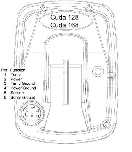 cuda 168 transducer wire diagram