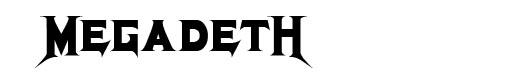 Megadeth font logo