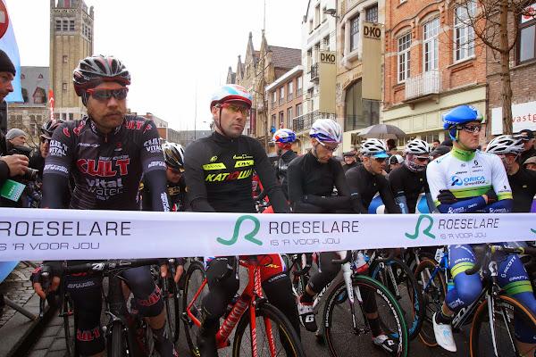 aan de start van Dwars door Vlaanderen