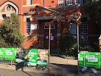 Entrance to Kensington Primary School - one of the many polling booths on the weekend.
