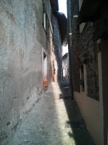Typical narrow street in La Brigue