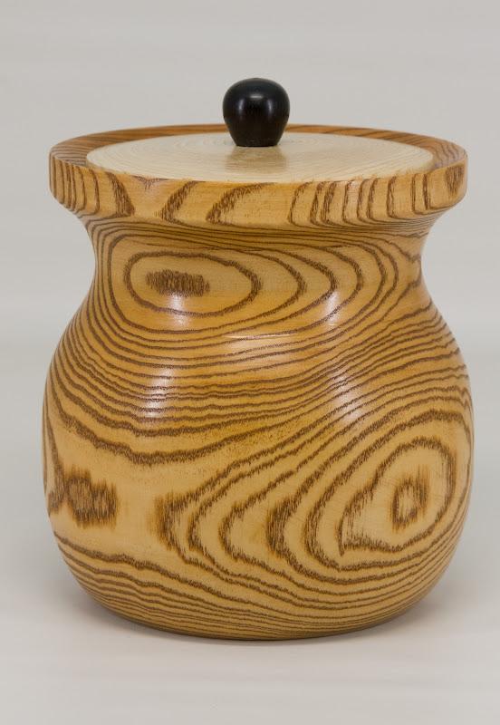 """Joe Stout 8"""" x 6"""" Beads of Courage pot [pine]"""