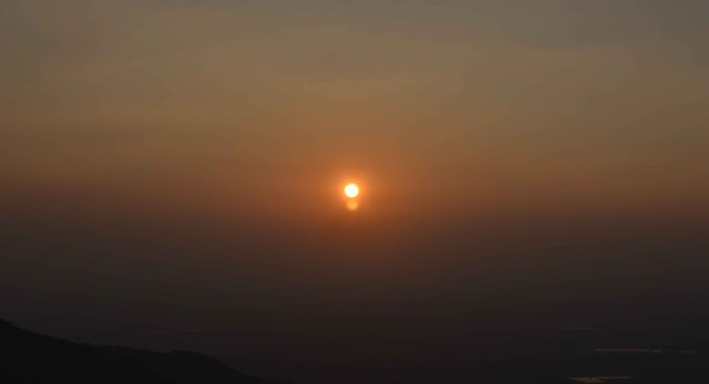 sunset at nandi hills