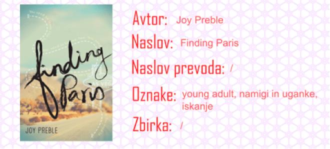 Finding Paris - Joy Preble