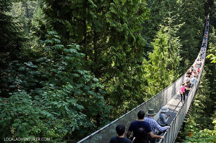 Capilano Bridge Vancouver.