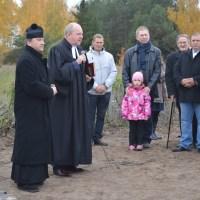 Uroczystość zakończenia prac na cmentarzu ewangelickim w Pawłówku