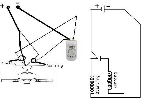 ceiling fan connection diagram with capacitor