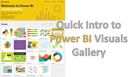 Quick introduction to Power BI Visiuals Gallery